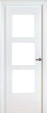 Puerta vidriera - Puerta blindada blanca ...