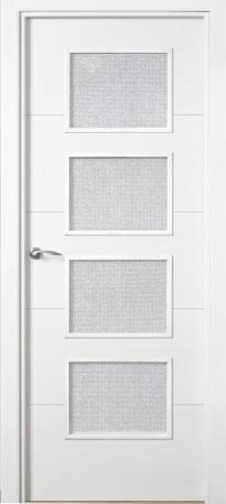 Puerta vidriera - Puertas lacadas blancas precios ...