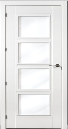 Puerta vidriera - Puertas de casa blancas ...
