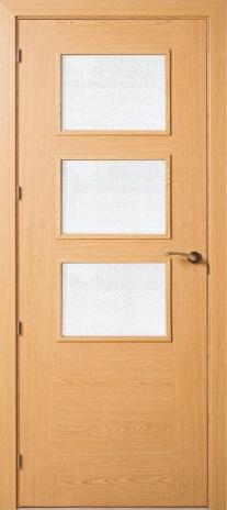 Puerta vidriera for Puertas de roble interior
