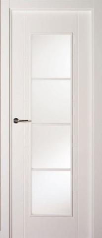 Puerta vidriera for Puerta lacada blanca