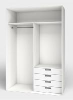 Interiores de armarios modulares con cajoneras